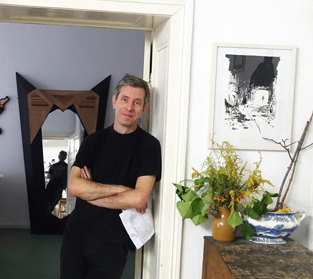 Henrik Schrat im Atelier