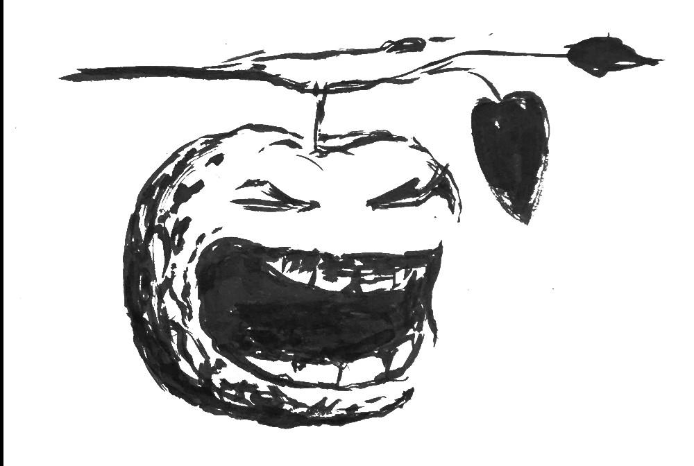 Apfel schreit