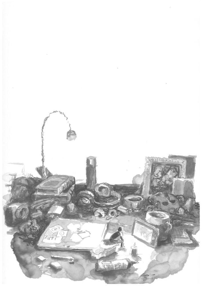 Daumesdick auf dem Schreibtisch